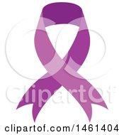 Clipart Of A Purple Awareness Ribbon Royalty Free Vector Illustration