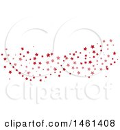 Clipart Of A Star Pattern Wave Royalty Free Vector Illustration by Cherie Reve