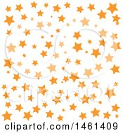 Clipart Of A Starry Pattern Background Royalty Free Vector Illustration by Cherie Reve