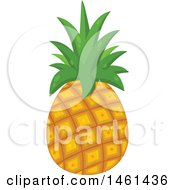 Clipart Of A Pineapple Royalty Free Vector Illustration