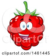 Clipart Of A Raspberry Mascot Character Royalty Free Vector Illustration