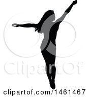 Silhouetted Dancing Woman