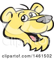 Clipart Of A Happy Cougar Mascot Face Royalty Free Vector Illustration by Johnny Sajem