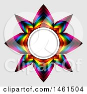 Colorful Star Frame On A Gray Background