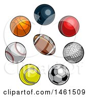 Clipart Of Sports Balls Royalty Free Vector Illustration by AtStockIllustration