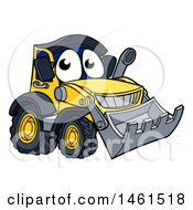 Clipart Of A Bulldozer Mascot Character Royalty Free Vector Illustration by AtStockIllustration