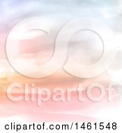 Clipart Of A Watercolor Textured Background Royalty Free Vector Illustration