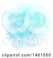 Clipart Of A Geometric Blue Watercolor And Connections Background Royalty Free Vector Illustration