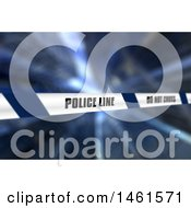 Clipart Of A 3d Police Line Tape Background Royalty Free Illustration