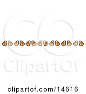 Border Of Candy Corn Clipart Illustration
