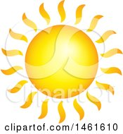 Clipart Of A Summer Time Sun Royalty Free Vector Illustration