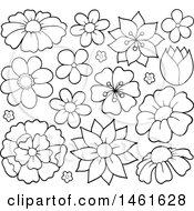 Poster, Art Print Of Black And White Flowers