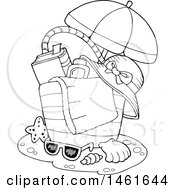 Clipart Of A Beach Bag Royalty Free Vector Illustration by visekart
