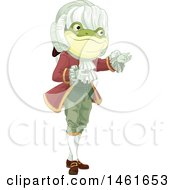 Clipart Of A Frog Footman Presenting Royalty Free Vector Illustration by Pushkin