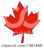 Clipart Of A Red Canadian Maple Leaf Royalty Free Vector Illustration by Hit Toon