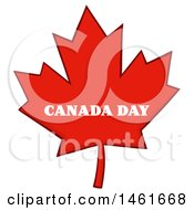 Clipart Of A Red Canadian Maple Leaf With Canada Day Text Royalty Free Vector Illustration by Hit Toon