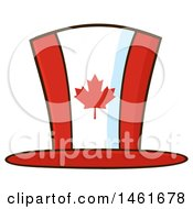 Clipart Of A Canadian Flag Maple Leaf Top Hat Royalty Free Vector Illustration by Hit Toon