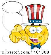 Emoji Smiley Face Uncle Sam Talking And Pointing At You