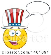 Clipart Of A Talking Emoji Smiley Face Uncle Sam Wearing A Top Hat Royalty Free Vector Illustration by Hit Toon