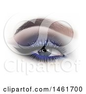 Clipart Of A Womans Eye With Glittery Shadow Royalty Free Vector Illustration by dero