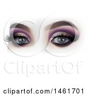 Clipart Of A Womans Eyes With Makeup Royalty Free Vector Illustration by dero