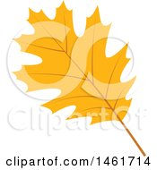 Clipart Of An Autumn Oak Leaf Royalty Free Vector Illustration by Cherie Reve