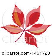 Clipart Of Red Autumn Leaves Royalty Free Vector Illustration by Cherie Reve