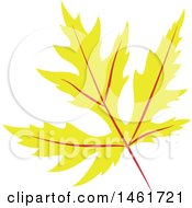 Clipart Of A Yellow Autumn Maple Leaf Royalty Free Vector Illustration by Cherie Reve