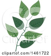 Clipart Of A Branch Of Green Leaves Royalty Free Vector Illustration