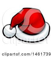 Clipart Of A Cartoon Red Santa Hat Royalty Free Vector Illustration