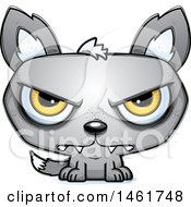 Clipart Of A Cartoon Mad Evil Wolf Royalty Free Vector Illustration by Cory Thoman
