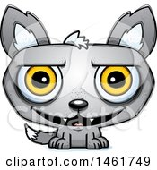 Clipart Of A Cartoon Grinning Evil Wolf Royalty Free Vector Illustration by Cory Thoman