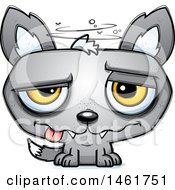 Clipart Of A Cartoon Dizzy Evil Wolf Royalty Free Vector Illustration by Cory Thoman