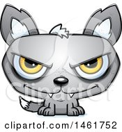 Clipart Of A Cartoon Evil Wolf Royalty Free Vector Illustration by Cory Thoman
