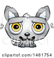 Clipart Of A Cartoon Scared Evil Wolf Royalty Free Vector Illustration by Cory Thoman