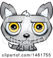 Clipart Of A Cartoon Happy Evil Wolf Royalty Free Vector Illustration by Cory Thoman