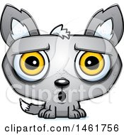 Clipart Of A Cartoon Surprised Evil Wolf Royalty Free Vector Illustration by Cory Thoman