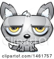 Clipart Of A Cartoon Bored Evil Wolf Royalty Free Vector Illustration by Cory Thoman