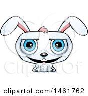 Cartoon Grinning Evil Bunny Rabbit