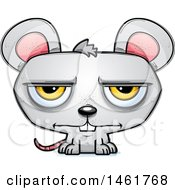 Clipart Of A Cartoon Bored Evil Mouse Royalty Free Vector Illustration