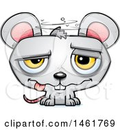 Clipart Of A Cartoon Drunk Evil Mouse Royalty Free Vector Illustration