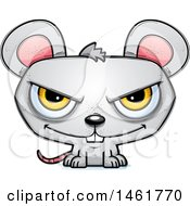 Clipart Of A Cartoon Evil Mouse Royalty Free Vector Illustration