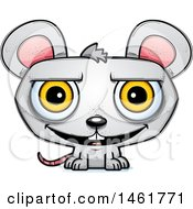 Clipart Of A Cartoon Grinning Evil Mouse Royalty Free Vector Illustration