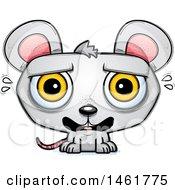 Cartoon Scared Evil Mouse