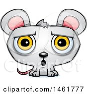 Clipart Of A Cartoon Surprised Evil Mouse Royalty Free Vector Illustration