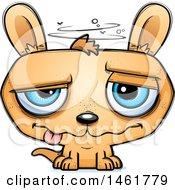 Clipart Of A Cartoon Dizzy Evil Kangaroo Royalty Free Vector Illustration