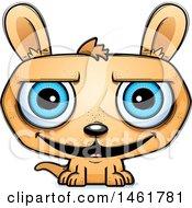Clipart Of A Cartoon Grinning Evil Kangaroo Royalty Free Vector Illustration
