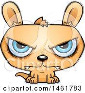 Clipart Of A Cartoon Mad Evil Kangaroo Royalty Free Vector Illustration