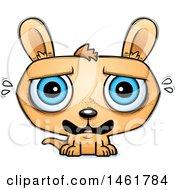 Clipart Of A Cartoon Scared Evil Kangaroo Royalty Free Vector Illustration