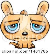Clipart Of A Cartoon Sad Kangaroo Royalty Free Vector Illustration